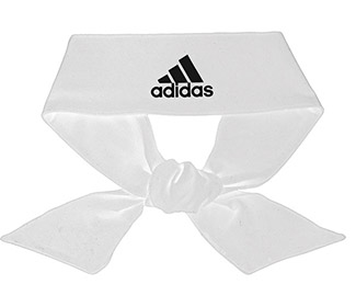 adidas Alphaskin Tie Headband (White)