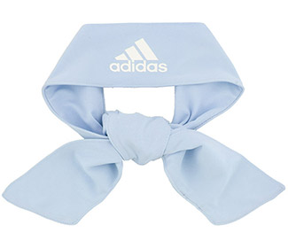adidas Alphaskin Tie Headband (Light Blue)